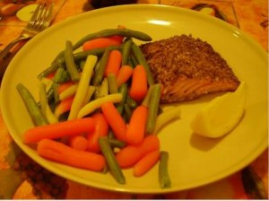 Trader Joe's Fish dinner