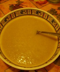 Finished Creamy Potato Leek Soup