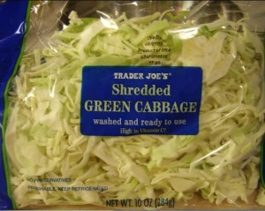 Trader Joe's Shreadding Cabbage for Coleslaw