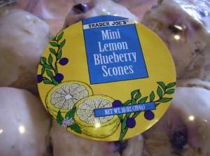 Trader Joe's Lemon Blueberry Scones