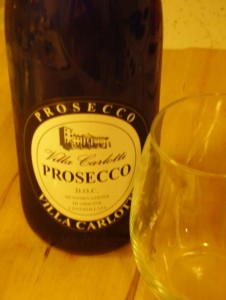 Trader Joe's Villa Carlotti Prosecco in cool blue bottle