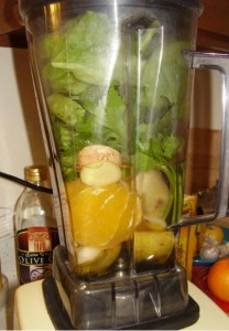 Vita-Mix Raw Green Smoothie: Spinach & Ginger