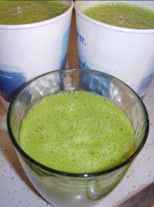 The finished Green Smoothie